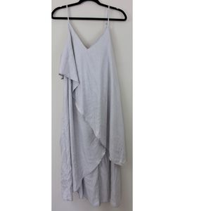 Free People Metallic Silver Layered Drape Dress M